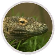 Komodo Dragon Round Beach Towel