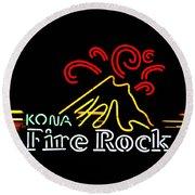 Kona Fire Rock 2 Round Beach Towel