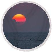 Kona Sunset 1 Round Beach Towel