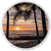 Kona Sunset Round Beach Towel by Brian Harig
