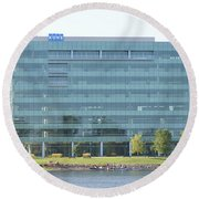 Kone Building Round Beach Towel