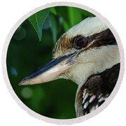 Kookaburra Portrait By Kaye Menner Round Beach Towel