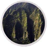 Koolau Range, Oahu Round Beach Towel