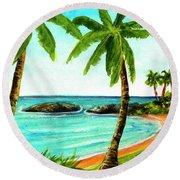 Koolina Lagoon Oahu, Hawaii #343 Round Beach Towel