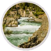 Kootenai River Round Beach Towel