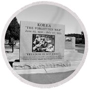 Korea The Forgotten War  Round Beach Towel