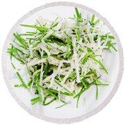 Korean Traditional Fresh Vegetable Salad Round Beach Towel
