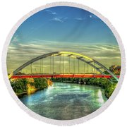 Korean Veterans Memorial Bridge 2 Nashville Tennessee Sunset Art Round Beach Towel