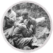 Korean War, 1950 Round Beach Towel