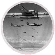 Korean War: B-29 Bombers Round Beach Towel
