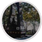 Korean War Memorial Round Beach Towel