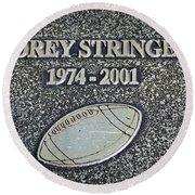 Korey Stringer Tribute Round Beach Towel