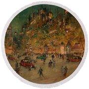 Korovin, Konstantin 1861-1939 Les Grands Boulevards, Paris Round Beach Towel