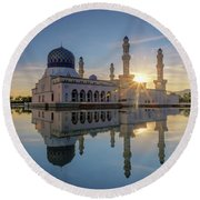 Kota Kinabalu City Mosque II Round Beach Towel