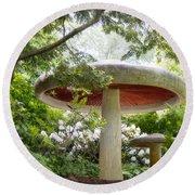 Krider Garden Mushroom Round Beach Towel