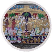 Krishna Marriage  Round Beach Towel