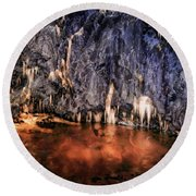 Krka National Park Round Beach Towel