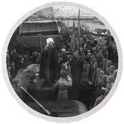 Kronstadt Mutiny, 1921 Round Beach Towel