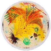 Krutika Round Beach Towel