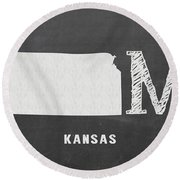 Ks Home Round Beach Towel by Nancy Ingersoll