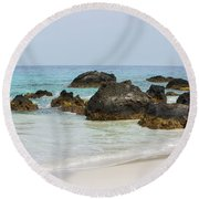 Kua Bay 13 Round Beach Towel