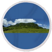 Kualoa Panorama Round Beach Towel
