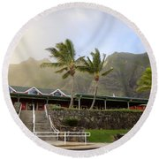 Kualoa Ranch 2 Round Beach Towel