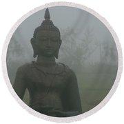 Kuan Yin Bodhisattva Guanyin Goddess Of Mercy Round Beach Towel