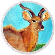 Kudu Round Beach Towel