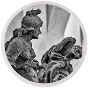 Kuks Statues - Czechia Round Beach Towel