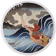 Kuniyoshi: Oban Print Round Beach Towel