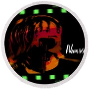Kurt Cobain Nirvana Round Beach Towel