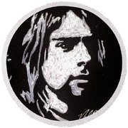 Kurt Kobain Round Beach Towel