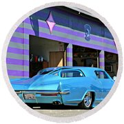 Kustom On The Riviera  Round Beach Towel