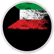Kuwait Shirt Gift Country Flag Patriotic Travel Asia Light Round Beach Towel