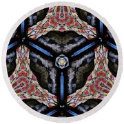 KV6 Round Beach Towel by Writermore Arts