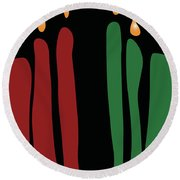 Kwanzaa Card Round Beach Towel