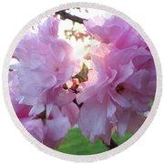 Kwanzan Cherry Blossom Round Beach Towel