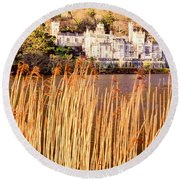 Kylemore Abbey, County Galway Round Beach Towel