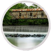Kymulga Covered Bridge  1864 Round Beach Towel