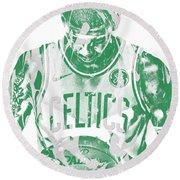 Kyrie Irving Boston Celtics Pixel Art 5 Round Beach Towel