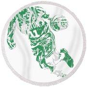Kyrie Irving Boston Celtics Pixel Art 9 Round Beach Towel