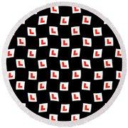 L-plate Wallpaper Round Beach Towel