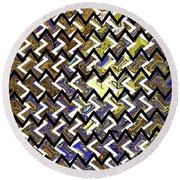 L T Z Abstract Round Beach Towel