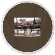 La Alhambra Garden Round Beach Towel
