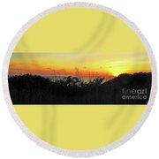 la Casita Playa Hermosa Puntarenas Costa Rica - Sunset A Panorama Round Beach Towel