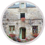 La Gacilly, Morbihan, Brittany, France, Shop Round Beach Towel