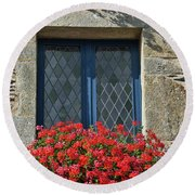 La Gacilly, Morbihan, Brittany, France, Window Round Beach Towel