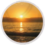 La Jolla Sunset Round Beach Towel