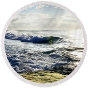 La Jolla Towards Casa Cove Round Beach Towel